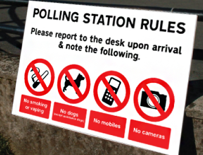 Polling and Election Signage